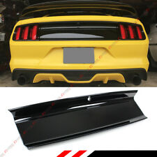 FOR 15-2020 FORD MUSTANG GLOSS BLK EMBLEM-DELETE TRUNK DECKLID PANEL TRIM COVER