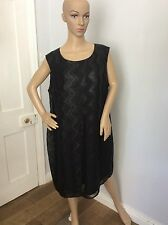 M&S MARKS & Spencer's Black Evening Dress Size Uk 20 Brand New BNWTS  Autograph