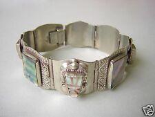 Versilbertes Armband mit schöner Perlmutt Einlage 35,9 g / Länge ca 18 cm