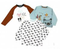 BABY BOYS 3 PACK LONG SLEEVE T-SHIRTS TOPS ALL SEASON T SHIRT TOP - MULTIPACK