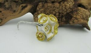 Vintage Miniature Sugar Bells with Gold Glitter Accent Corsage Filler Weddiings
