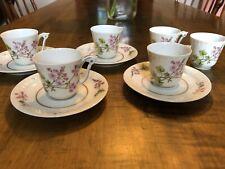 (4) Vintage HAVILAND LIMOGES/ C H FIELD Dinnerware: DEMITASSE CUP & SAUCER SETS