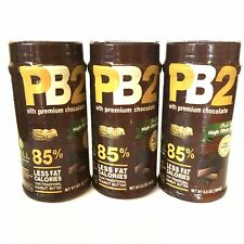 Lot of 3! PB2 Powdered Peanut Butter with Premium Chocolate, 6.5 oz —SHIPS FAST!
