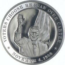 Sterling Silver - Voters Choose Reagan - 925 - 37.9 Grams Round/Art Bar *486