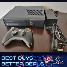 XBOX 360 S Black 500 GB HDD PAL Power Brick and Controller TESTED