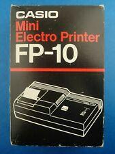 Vintage Electronics CASIO - MINI ELECTRO PRINTER FP-10 Boxed Working