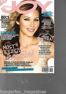 Joy Ungarn / Hungary Hungarian Magazine 2013/10 - Jessica Biel - Cover