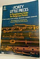 Forty Little Pieces Beginner Flutists Flute Bach Handel Haydn Mozart Beethoven