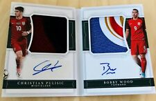 CHRISTIAN PULISIC BOBBY WOOD 2018 National Treasures Autograph Patch Auto🔥#/15