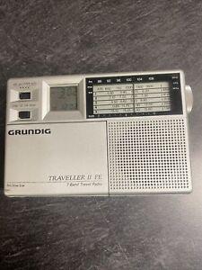 Grundig Traveller II PE 7 band radio  with case Test Works Great