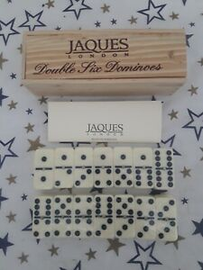 Jaques of London Luxury Double Six Dominoes Set - Brand New