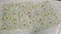 Laura Ashley Quilted Shams Floral Green Set Of 2 Standard
