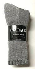 Premium 3 Pairs Gray 34% Merino Wool, 34%Acrylic, Thermal Crew Sock SZ 10-13.
