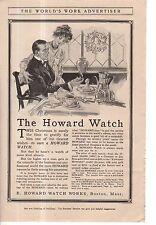 1911 F.X. Leyendecker Original Howard Watch Ad - The Christmas Breakfast