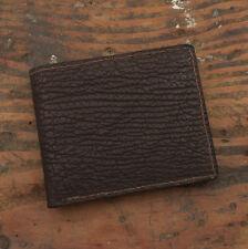 Brown Bifold Shark Skin Amish Handmade Wallet - Genuine Sharkskin & Made in USA