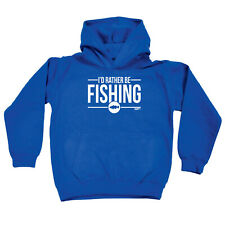 Fishing Kids Childrens Hoodie Hoody Funny - Id Rather Be Fishing
