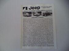 advertising Pubblicità 1981 JEEP CHEROKEE CHIEF/GOLDEN EAGLE