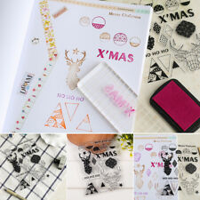 DIY Silicone Transparent Clear Rubber Stamp Seals for Scrapbook Album Xmas Decor