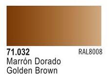 Vallejo Golden Brown Model Air Color 17ml Bottle Paint 71.032 VLJ71032
