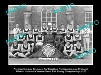 OLD HISTORIC MILITARY PHOTO OF NORTHAMPTONSHIRE REGIMENT BOXING CHAMPIONS 1932
