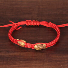 Feng Shui Red String Lucky Wooden Twin Fish Charm Bracelet for Good Luck Baby