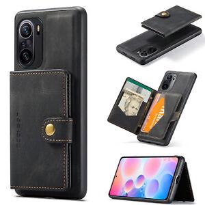 Leather Case+Detachable Card Slot Stand Cover For Xiaomi POCO F3 Redmi K40 Pro