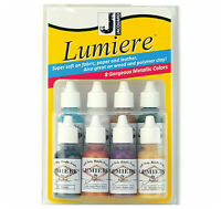 JACQUARD LUMIERE Metallic ink Paints -14.5ml X 8 BOTTLES - MINI- EXCITER PACK