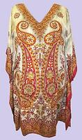 EAONPLUS NEW Multi colour Tie Dye Paisley Print Kaftan Tunic Size 1 UK 16-20