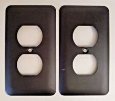 Amertac Devon Matte Black Steel Wallplates Single Duplex 935DBK Lot of 2 #741