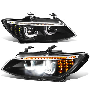 Fit 07-13 E92 E93 AFS Sequential Signal Startup LED DRL Projector HID Headlight