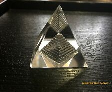 CROWN CHAKRA CLEAR QUARTZ CRYSTAL PYRAMID REIKI CHARGED POWERFUL ORGON HEALING