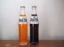Pair of Full/Unopened FANTA ACL Soda bottles 10 oz. Orange and Root Beer