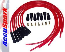 AccuSpark 8mm High Performance Silicone HT Leads in Red for 6 Cylinder Cars