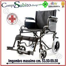 Sedia a rotelle pieghevole comoda da transito carrozzina disabili anziani no wc