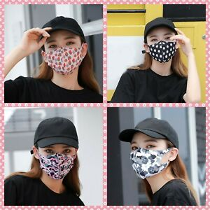 Fashion Face Mask Cotton 100% Ice Silk Unisex Reusable Washable Mouth Camouflage