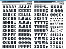 Letraset #529 FOLIO CARAVELLE 4.4// 5mm MECANORMA Dry Transfer Lettering Sheet