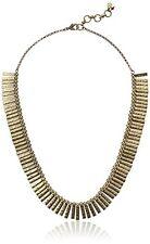 Lucky Brand Heritage Modern Gold Tone Metal Collar Rectangular Fringe Necklace