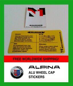 ALPINA Warning Sticker Decal Aufkleber NICOLE Japan + 3service