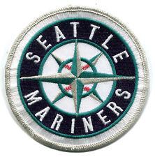 "SEATTLE MARINERS MLB BASEBALL 3.75"" ROUND TEAM LOGO PATCH"