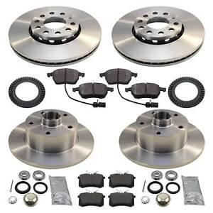 Bremsen-Set mit Bremsscheiben, Bremsbelägen, Radlager und ABS-Ring AUDI A4 B5