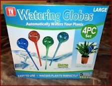 (NIB) As Seen on TV 4 pc Multi-Color Glass Watering Globes Plants Flowers  Large