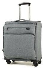 Rock Madison 56cm Cabin Size British Airways compliant 4 wheel spinner Suit Grey