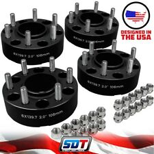 (4) 2 Inch Hub Centric 6x5.5 Wheel Spacers For Toyota Tundra Tacoma 4Runner T100