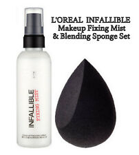 L'Oreal Beauty Infallible Makeup Setting Fixer Spray + Foundation Blender Sponge