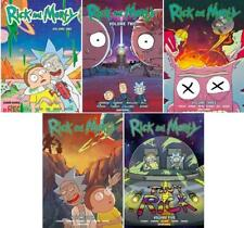 Rick and Morty GRAPHIC NOVEL Series Collection Set Books 1-5 by Zac Gorman