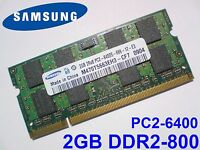 2GB DDR2-800 PC2-6400 SAMSUNG M470T5663EH3-CF7 800Mhz LAPTOP RAM ARBEITSSPEICHER