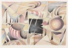 Robert Chariot: Besichtigung einer Stadt. Kubistisches Pastell
