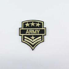 Embroidered Iron On Patch Military Army Soldier Rank Insignia Badge Craft DIY 02