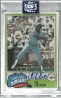 Al Oliver 2020 Topps Archives Signature Series Auto/99 Rangers MLB!!