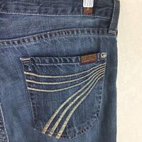 7 For all Mankind Womens Jeans Dojo Flare Altered Hem Size 27